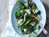 Pikanter Heidelbeer-Blattsalat