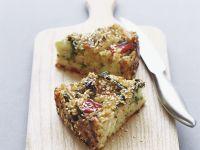 Pikanter Kuchen mit Reis