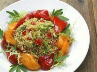 Couscous mit Peperonis und marinierten Paprika