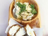 Pilzsalat mit Crostini