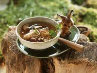Pilzsuppe auf asiatische Art