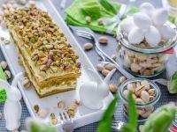 Pistazien-Matcha-Kuchen