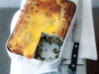 Pitta mit Spinat und Schafskäse