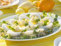 Platte mit Eiern
