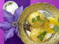 Foodstyling - Angerichtete Orangenhälften