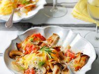 Polentaklößchen mit Pilzen