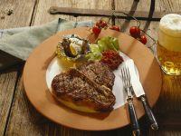 Porterhouse-Steak mit Ofenkartoffel