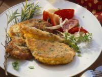 Pute mit Parmesan-Kräuter-Kruste