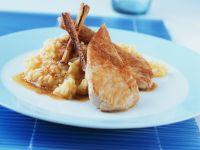 Putenschnitzel mit Apfel-Reis