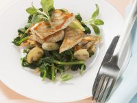 Putenschnitzel mit Spinat