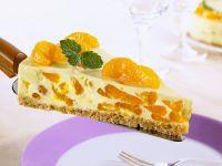 Quarkkuchen mit Mandarinen und Knusperboden