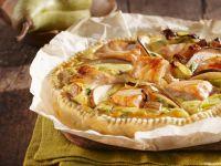 Quiche mit Lachs und Birnen