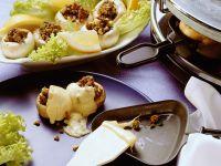 Raclette mit Hackfleisch-Champignons