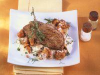 Rehschnitzel mit Pilzen