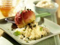 Reis-Creme mit Bratapfel