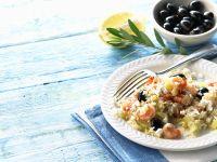 Reis mit Gemüse und Garnelen