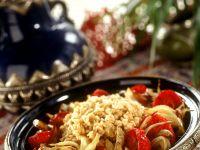 Reis mit Gemüse vom Grill