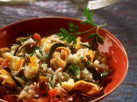 Reis-Muschelsalat