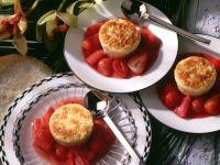 Reisauflauf mit Erdbeer-Rhabarber-Kompott