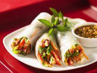 Reispapier-Röllchen mit Gemüse