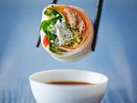Reispapierrolle mit Thunfisch