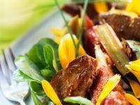 Rhabarber-Feigen-Salat mit Entenleber