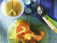 Riesen-Garnelen mit Meerrettich-Mayonnaise