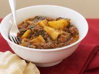 Rindercurry mit Kartoffeln
