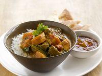 Rindercurry mit Süßkartoffel und Reis
