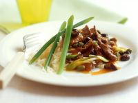 Rindergeschnetzeltes mit Kapern und Oliven