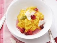 Risotto alla milanese mit Cranberries