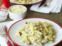 Risotto mit Huhn und Pilzen