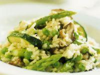 Risotto mit Zucchini und Spargel