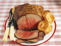 Roastbeef und Yorkshire Pudding