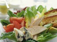 Romanasalat mit Hähnchenbrust
