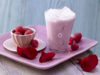 Rosenblüten-Milchmix