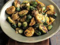 Rosenkohl-Maronen-Gemüse