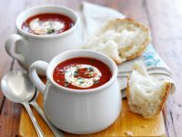 Rote Bete-Cremesuppe