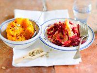 Rote Bete-Gemüse mit Püree