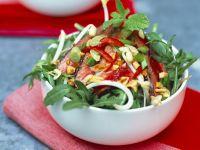 Rucola-Rumpsteak-Salat mit Erdnüssen