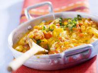 Rühreier mit Tomaten und Paprika