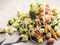 Salat aus Bohnensprossen