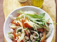 Salat aus Borlotti-Bohnen