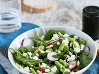 Salat mit Bohnen, Rucola und Radieschen