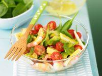 Salat mit Garnelen und Avocado