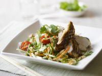 Salat mit Hähnchenbrust vom Grill