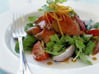 Salat mit Roastbeef und Koriander