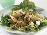 Salat mit Spargel und Ziegenkäse