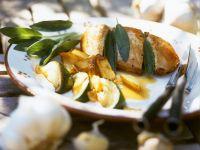 Salbei-Hähnchenbrust mit Kartoffeln