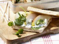 Sandwich mit Birne und Gorgonzola